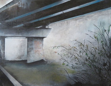 Bridge 40_30- Oil On Canvas, at MASA-UK Art Gallery n Bury, Manchester
