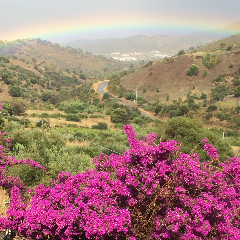 vista con arcobaleno