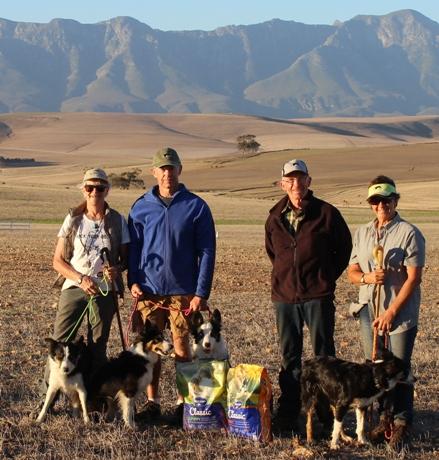 Western Province 1 Prize Winners- Irene Thompson & Eryn, Mark Trollip & Katie, Andrew Philip & Flint