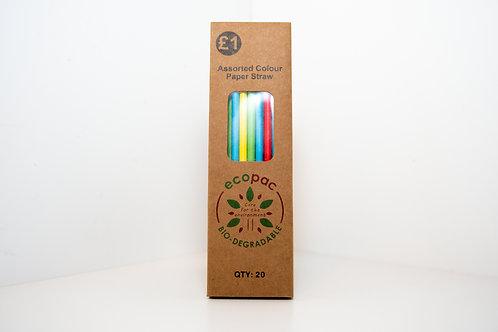 Ecopac Paper Straws 25pcs