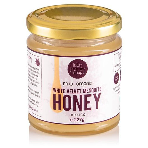 Raw Organic White Velvet Mesquite Honey From Mexico 227g