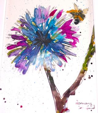 Echinops and Bee