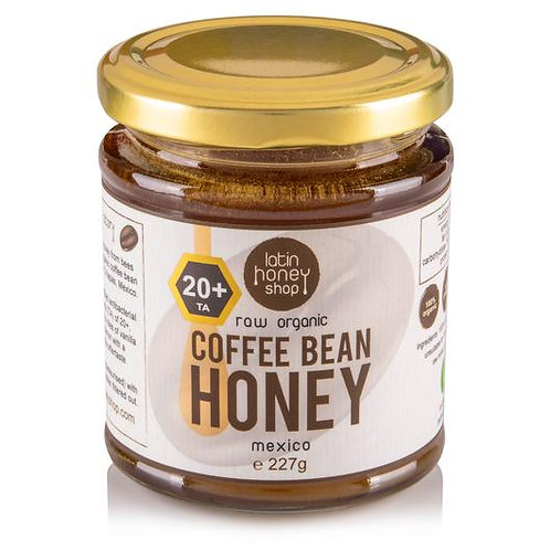 20+ ACTIVE Raw Organic Coffee Bean Honey from Mexico 227g