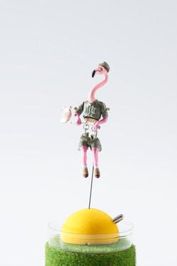 鳥軍人・恐竜軍人 / Brooch