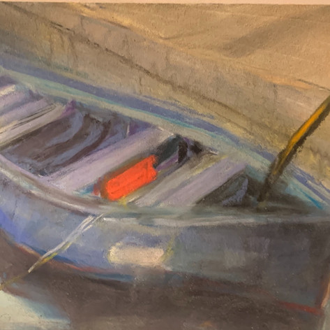 Blue Boat - Framed