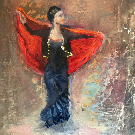 Flamenco - 9 x 12 - $225