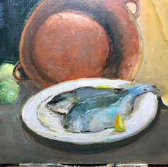 Fish on a Plate 9 x 12 -