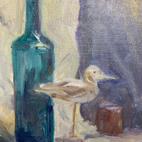 Bottle & Bird - 8 x 10