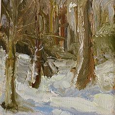 Snowy Woods - 5 x 7
