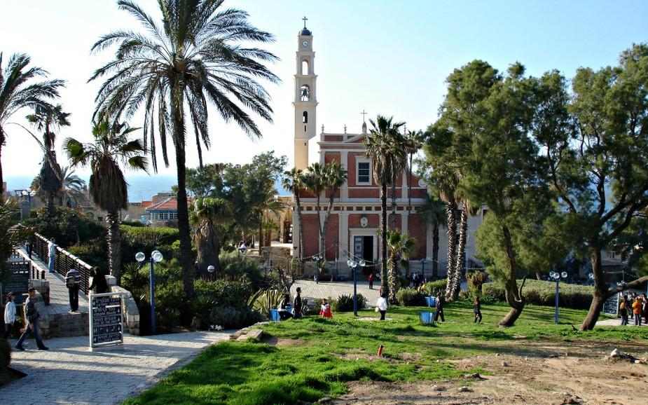 HaPisga Garden in Jaffa - St. Peter's Church
