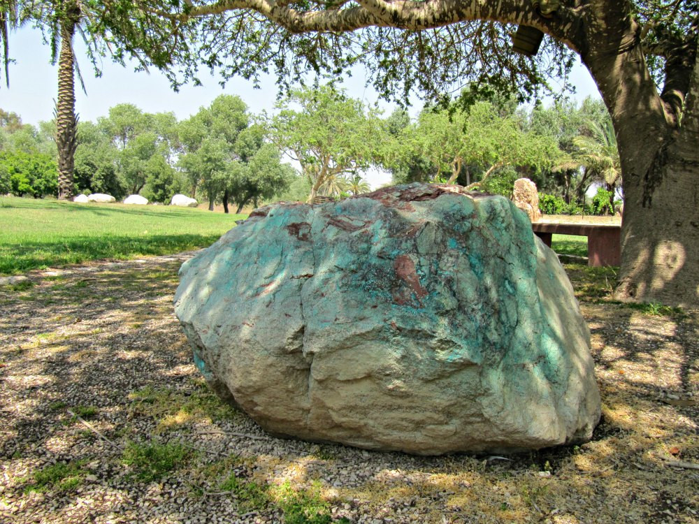 Copper and Magnese Sandstone - Rock Garden (Park HaYarkon)
