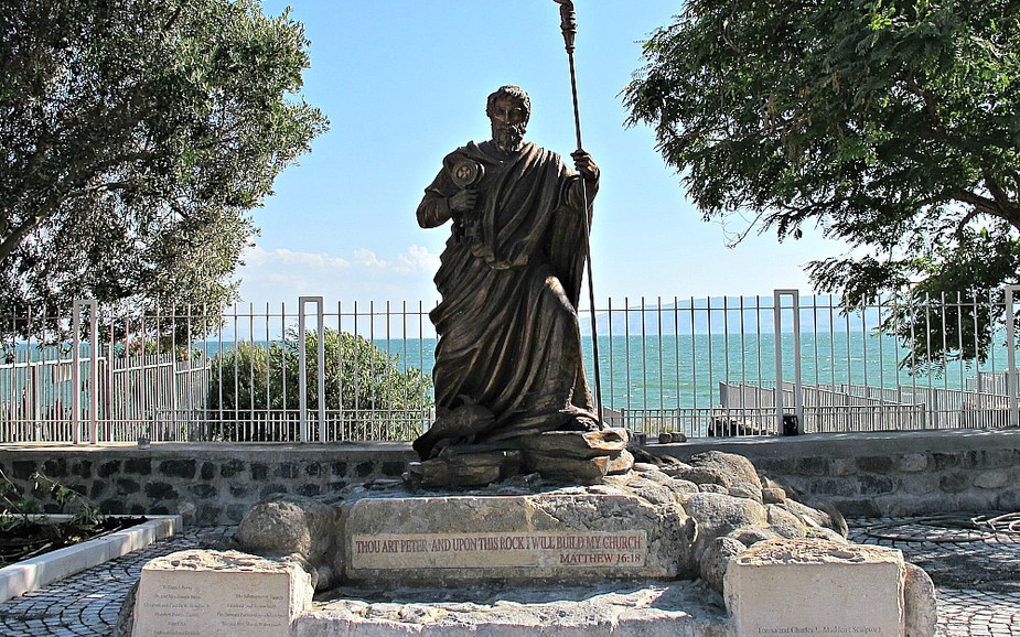 Statue at the Church of the Primacy of Saint Peter