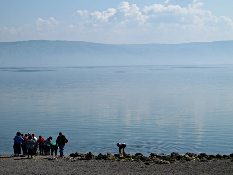 View on the Sea of Galilee from the Church of the Primacy of Saint Peter