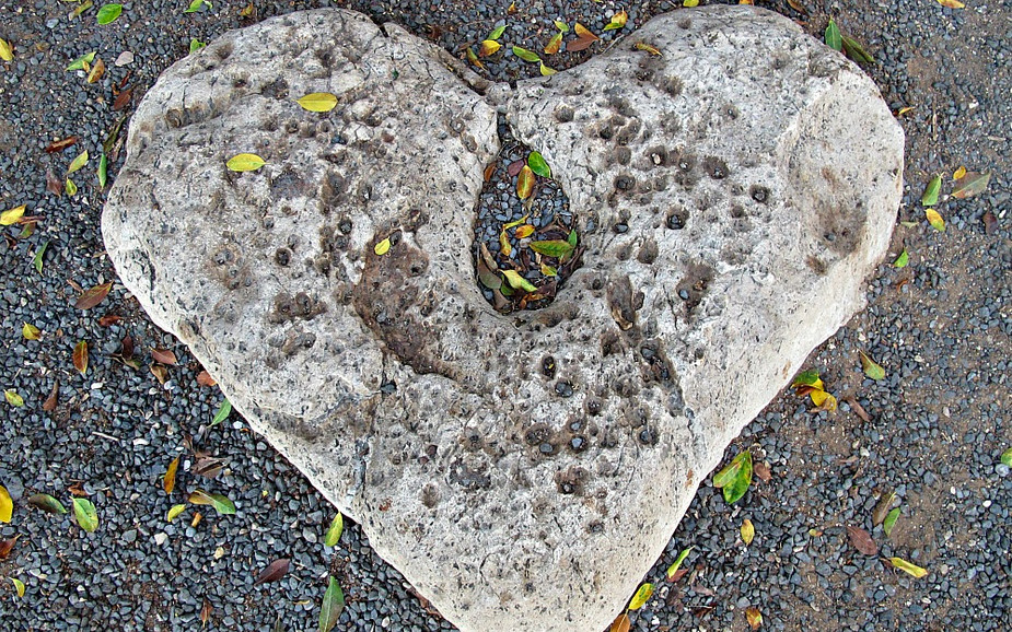 Heart Stone at the Church of the Primacy of Saint Peter