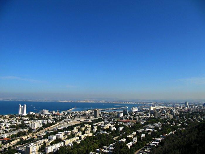 View over Haifa from Stella Maris Monastery