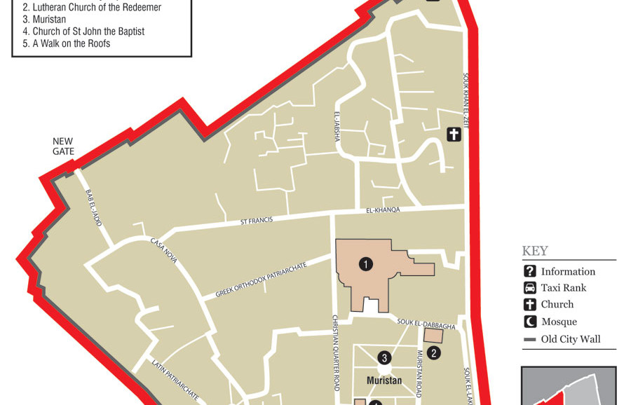 Old City of Jerusalem - Christian Quarter - Map taken from Wikipedia