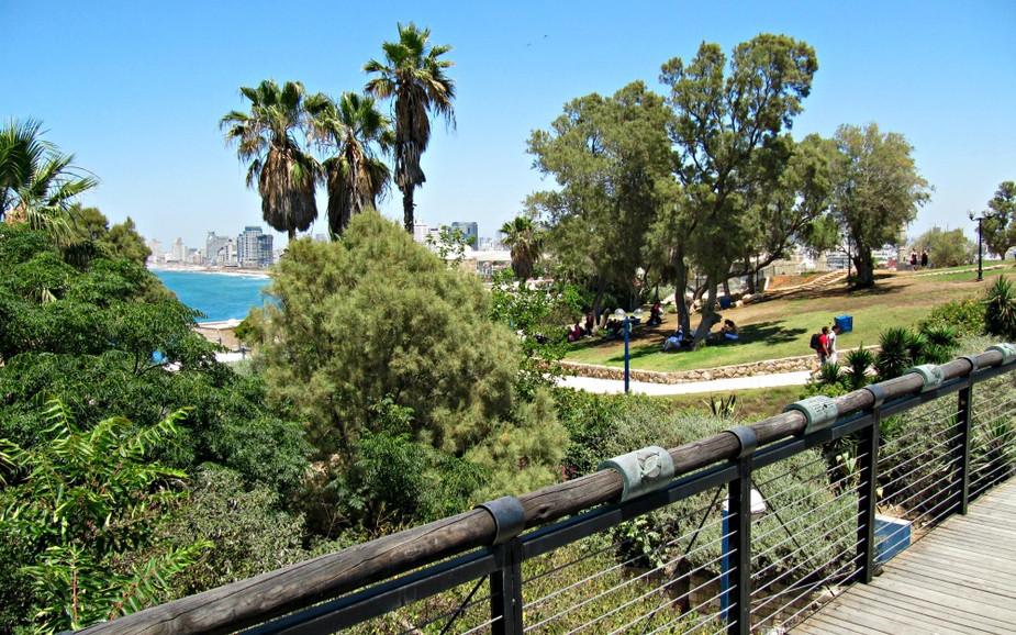 HaPisga Garden in Jaffa - Wishing Bridge