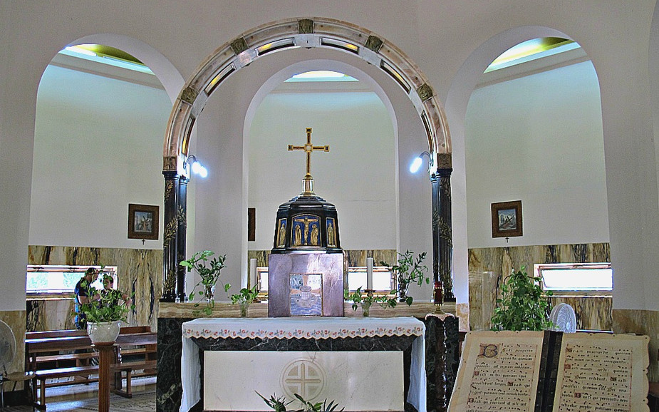 Inside the Church of Mount of Beautitudes