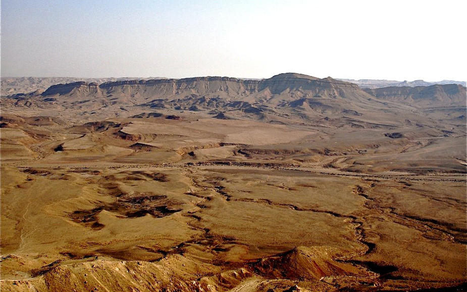 Landscape of the Ramon Crater