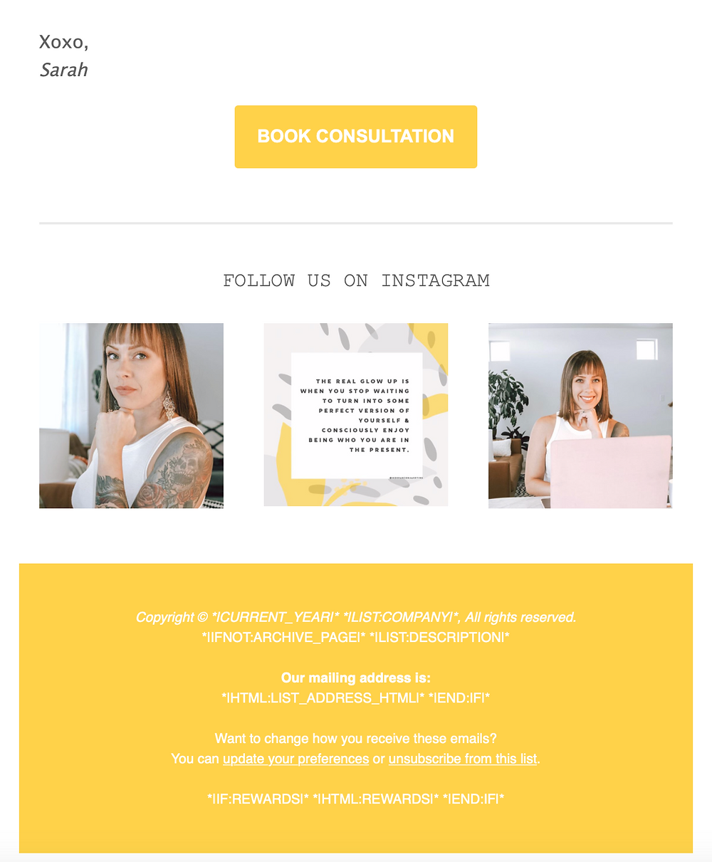 mail chimp example email modern co marketing