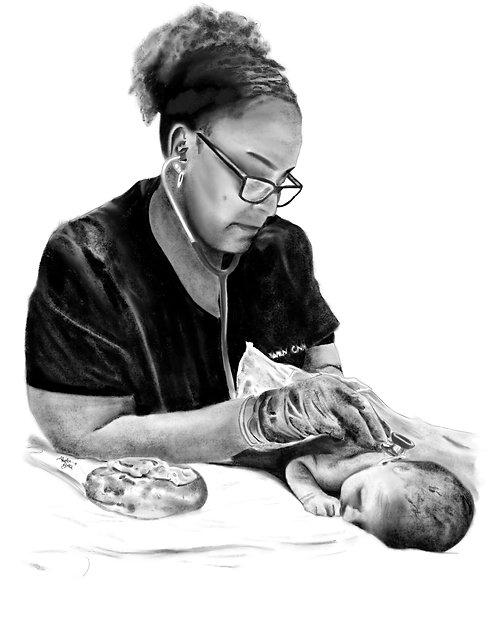 Midwife infant exam