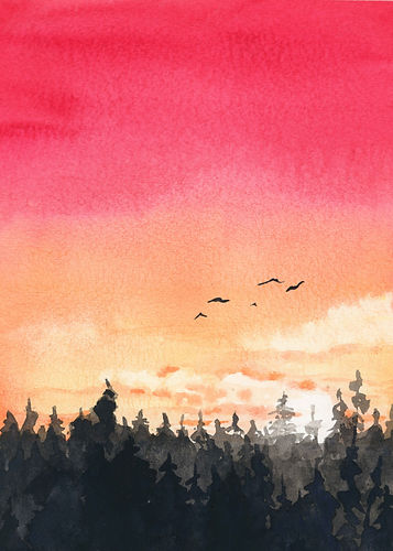 Pink Sunset Trees and birdsLOWRES.jpg