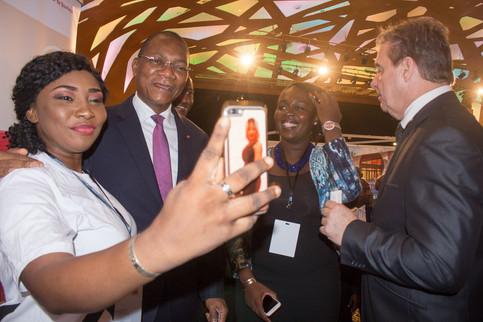 Selfie avec Mr le Ministre !