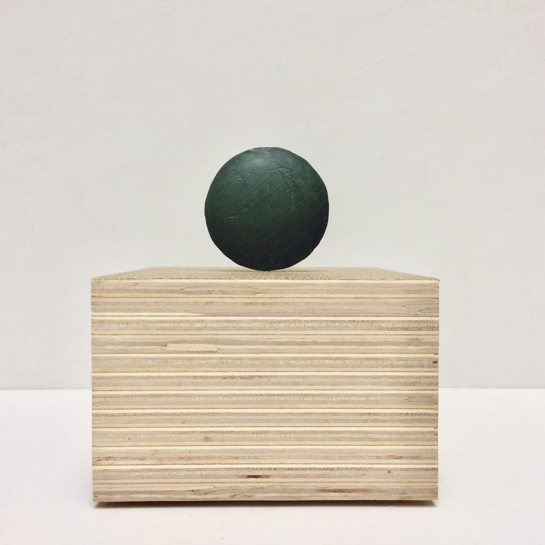 'Ball Painting' (2020) oil paint, epoxy,