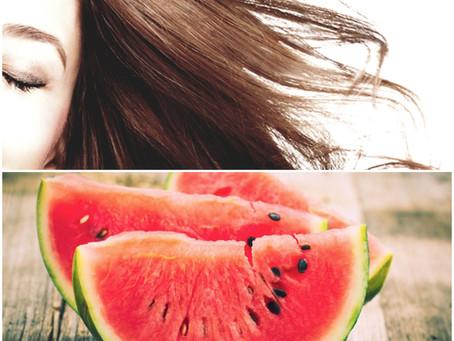 Sogar unsere HAARE lieben Wassermelonen...
