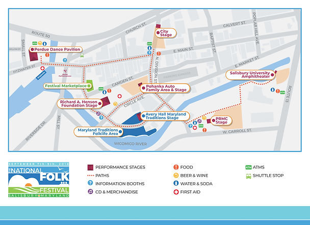 2018 National Folk Festival Map