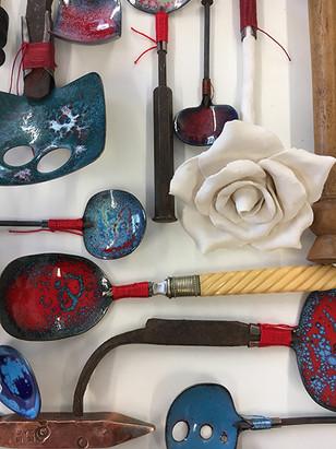 Spoon handles detail