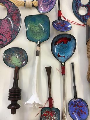 detail of spoons art