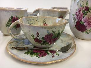 Tea set hand made