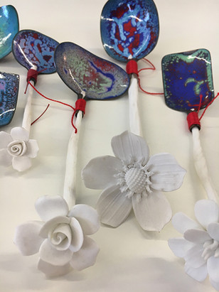 rose handle hand made spoons