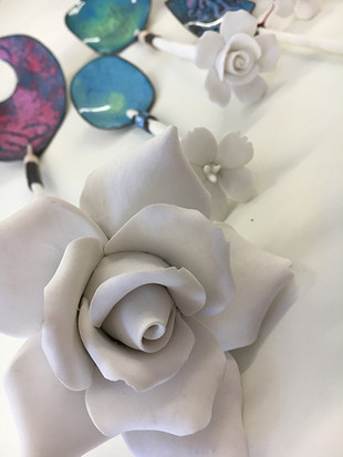 Details of hand made rose spoons