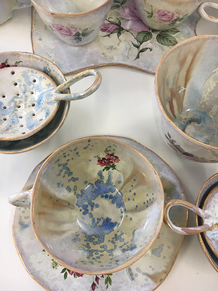 Hand made tea set