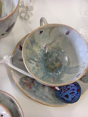 Tea set artwork, Ann Povey