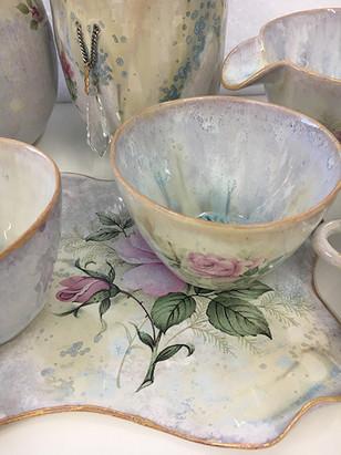 tea set art