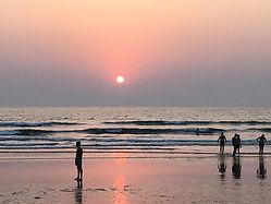 Solnedgång på Goa muy santo yoga & medit
