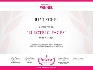 Festigious Awards 'Electric Faces' Best Sci-Fi