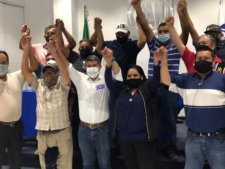 Liderazgos del PRD refrendan apoyo a Mauricio Tabe