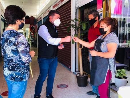 Mauricio Tabe promete poner en marcha la economía de Miguel Hidalgo