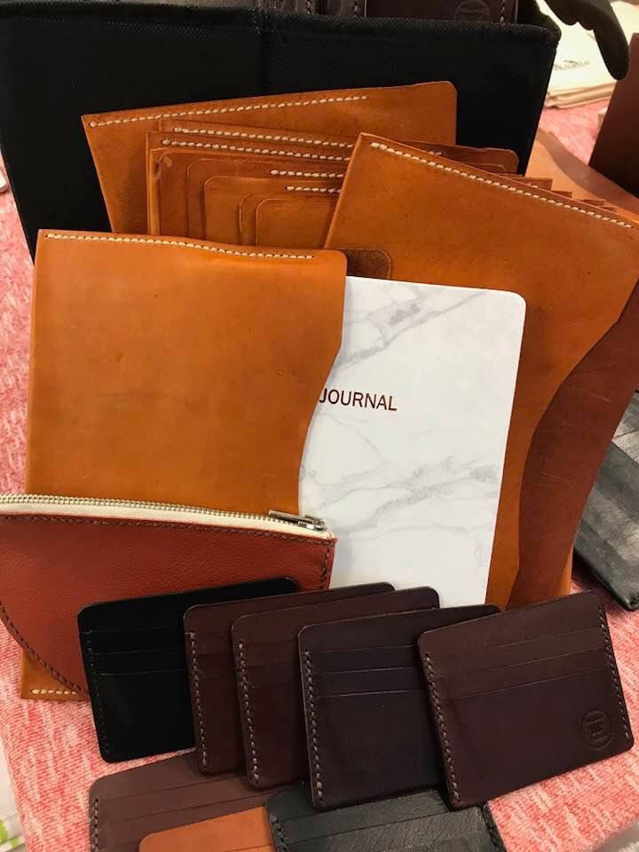 Téa&Belle Australian made Kangaroo Leather Journals and leather trifold wallets