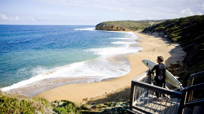 Surf beach, Bells Beach, Vic sits on the traditional aboriginal Wada Wurrung land