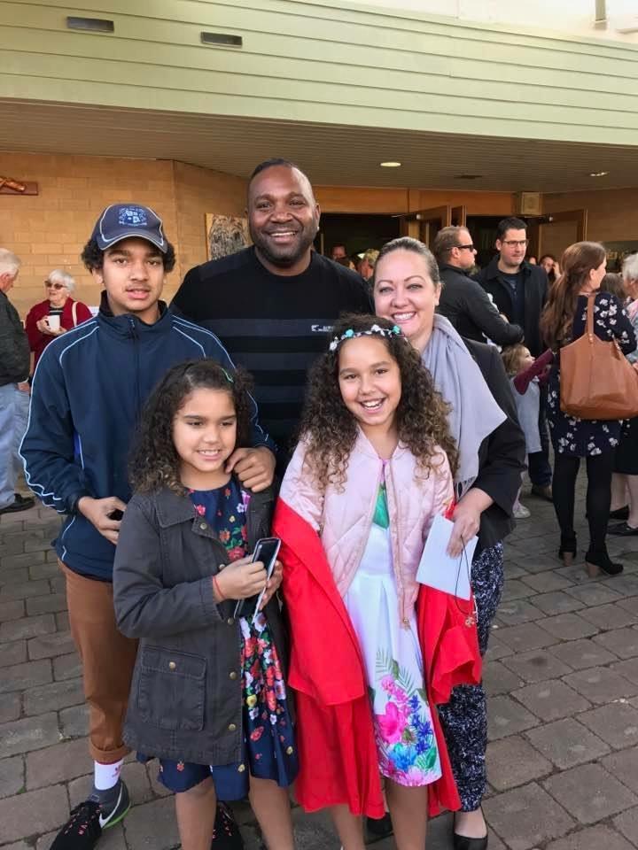 Dion Devow, Danni Devow, Dante Devow, Téa Devow & Seanna Devow. Proud Aboriginal & Torres Strait Islander family