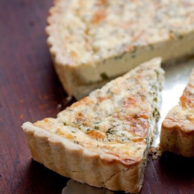 Smoked Salmon, Sea Parsley and Goats Cheese Quiche