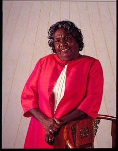 Strong and Proud Tidda Queen.  Kathleen Petyarre