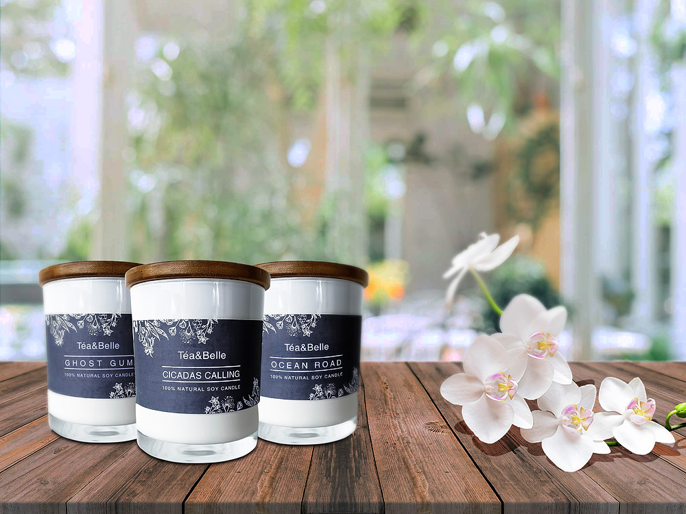 The scents of Australia. Tea&Belle has launched a new candle range that will transport you back to those endless summer days