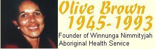 Proud and Strong Aboriginal Women Olive Brown. Founder of Aboriginal Health Service Winnuga Nimmityiah in Canberra, Australia