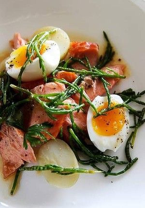 Smoked Trout, Eggs And Samphire